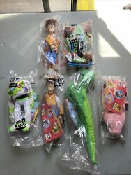 Toy Story Burger King Kids Club Set Of 6 Figures 1995 New 2 Versions
