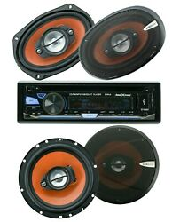 Soundxtreme St-930bt Bluetooth Car Receiver +4x Audiobank 6x9 And 6.5 Speakers