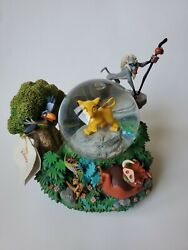 """Rare Disney Lion King 'i Can't Wait To Be King' Musical Snow Globe, 7"""" Tall"""