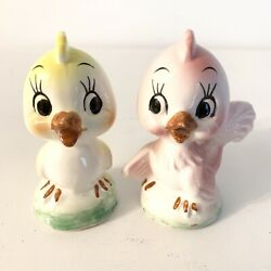 Vintage Relco Creation Japan Anthropomorphic Birds Salt And Pepper Shakers