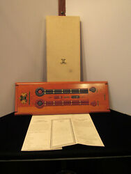 Vintage Noble Games Cherrywood Cribbage Board With Cellophane Wrapped Cards