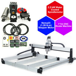 3 Axis Cnc Router Engraving Machine Water-cool 2.2kw Spindle +vfd Inverter+er20