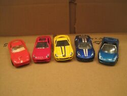 Lot Of 5 Hot Wheels All Ferrariand039s Loose 1/64 Scale