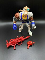 Earthworm Jim Battle Damage Action Figure With Red Weapons Ewj 1995 Playmates