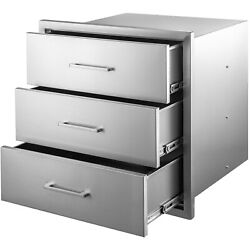 Vevor Stainless Steel Outdoor Kitchen Drawers 30x30 In Bbq Patio Grill Station