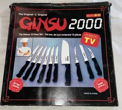 Vintage Original Ginsu Knives 2000 Stainless Steel 10 Pc Set As Seen On Tv W Box