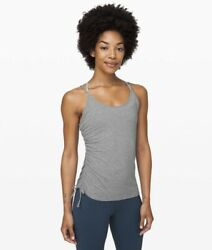 Lululemon Always Two Sides Tank Nwt Size 6 And 8 Avail Top Hmdg Grey Cotton