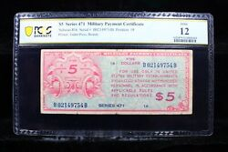 Schwan 816 Series 471 5 Military Payment Certificate Pcgs F12 Mpc