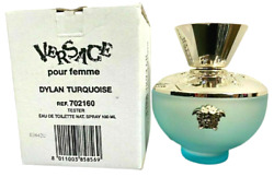 Versace Pour Femme Dylan Turquoise 3.4oz. Edt. Spray For Women. New Tester Box.
