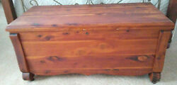 Antique, Prior To 1916, Acme Cedar Blanket Hope Chest Bench