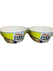 Set Of 2 Vintage Cereal Bowls By Kelloggs Corn Flakes Send Them Back Happy