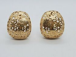 Mingand039s 14k Solid Gold Four Seasons Design Large Earrings