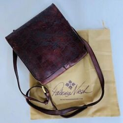 Patricia Nash Granada Vintage Leather Map Rust Womenand039s Cross Bag-