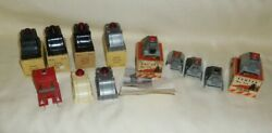 Assorted Lot-12 Marx No.0605 And Colber No.111 Lighted/unlighted Track Bumpers