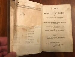 Rare 1861 Rifle And Light Infantry Tactics, Tennessee Civil War Confederate Imp Tn