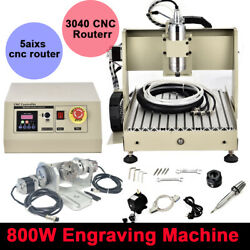Usb 5 Axis Cnc 3040 Router Engraver 3d Cutting Milling Drill Machine 800w 110v