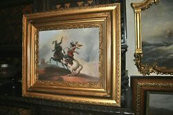 Great Antique Battle Scene Very Powerful Great Condition