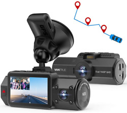 Vantrue N2s Dual 2.5k Dash Cam With Gps 4k Single Front Or 1440p Front And Cabin