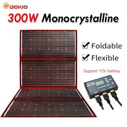300w 12v Flexible Foldable Portable Solar Panel For Outdoor Camping Boats Home