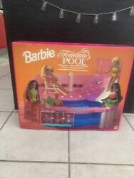 Rare Vintage Barbie Fountain Pool Real Working Fountain 1993 New Seal Never Open