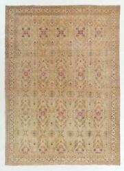 8.7x10.7 Ft Exquisite Vintage Kayseri Rug. Rare Design And Beautiful Soft Colors