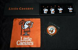 Little Caesars Pizza Metal Wine Charms Set Of 4 With Coin And Bonus