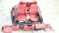 2014-2016 Bmw 428i F32 Coupe Interior Dashboard Seats Door Panels Set Oem Red