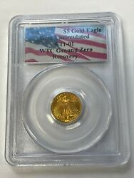 1998 5 American Gold Eagle Pcgs Gem Uncirculated 9-11-2001 Wtc 20th Anniversary