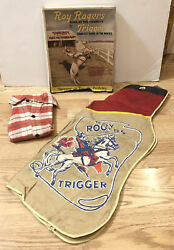 Vintage 1950's Roy Rogers Official Cowboy Outfit In Original Box / Shirt And Chaps