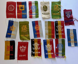 17 Egyptienne Vintage Nation Country Cigarette Tobacco Silk Premiums