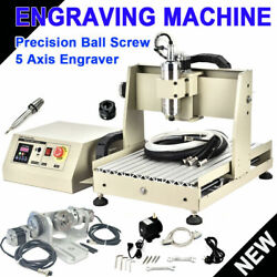 3040 5axis Cnc 800w Router Engraving Machine Metal Engraver Mill Cutting Machine