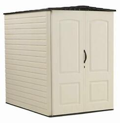 Rubbermaid Large Plastic Vertical Resin Weather Resistant Storage Shed,