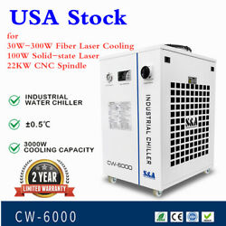 Cw-6000bn Industrial Water Chiller For 22kw Cnc Spindle, 30w-300w Fiber Laser
