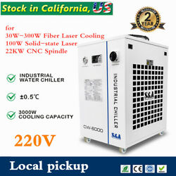 Cw-6000bn Industrial Water Chiller For 30w-300w Fiber Laser Cooling Local Pickup