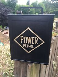 Power Petrol Vintage 2 Gallon Petrol Fuel Oil Jerry Can Man Cave Display
