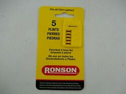 Vintage Flints By Ronson With 5 Flints, For Zippo Lighters, New Nos
