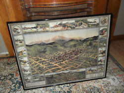 Victor Cripple Creek Colorado Gold Mine Map 1896 The Western Litho Reproduction
