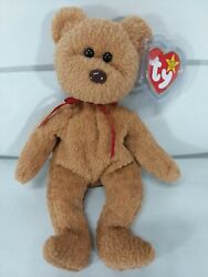 Rare Retired Ty Beanie Baby And039curlyand039 The Bear With Many Errors Mint