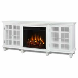 Real Flame Marlowe Fireplace Tv Stand In White