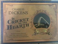 Charles Dickens The Cricket On The Hearth Book And Brass Cricket Set