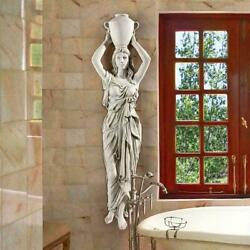 Ky4067 - Dione The Divine Water Goddess Wall Sculpture