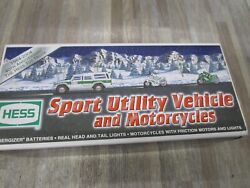 New 2004 Hess Truck Sport Utility Vehicle And Motorcycles 40 Th Anniversary