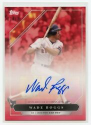 2021 Topps X Derek Jeter Captainand039s Crew Wade Boggs Auto Red Parallel 7 /10