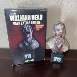 Neca Deer Eating Zombie Walking Dead Mini Bust Boxed Rare Chase Series 1