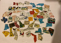 Lot Of 50 Vintage State And Location Refrigerator Magnets All 50 States And Canada