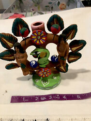 Mexico Folk Art Tree Of Life Adam And Eve Candlestick 5andrdquo