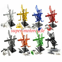 For Cbr600rr 2009-2012 Footrest Footpegs Rearset Shift Pedals Set Motorcycle Cnc
