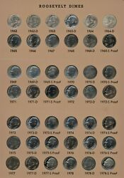 210 Roosevelt Dimes 1946-2013 Proof And Silver In New Dansco Proof Pds Mints Unc