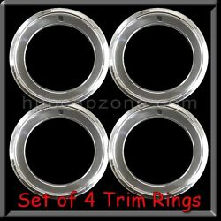 Set Of 4 14x7 Stainless Steel Trim Rings Beauty Rings 2 1/2 Deep 14 X 7 Chrome.