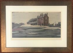 Signed Limited Edition Print - Lonely House - Ls Lowry